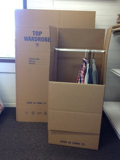 newport oregon local mover wardrobe boxes photo
